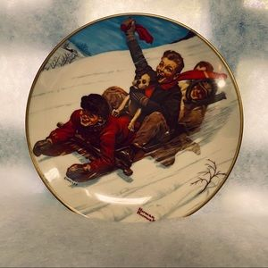 Norman Rockwell First Edition 1975 Christmas Plate